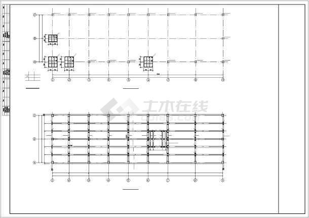 某框架联合站房结构设计图-图3
