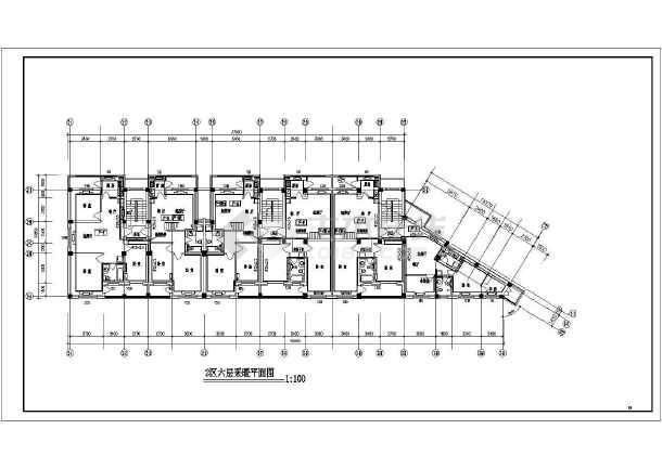 某六层住宅楼采暖图-图2