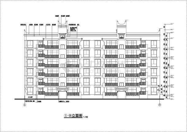 某地六层砖混住宅建筑结构设计施工图-图1