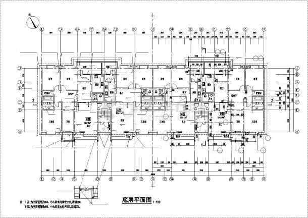 某地六层砖混住宅建筑结构设计施工图-图2