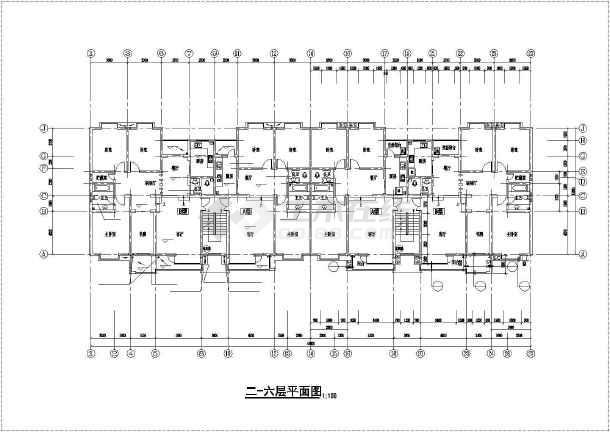 某地六层砖混住宅建筑结构设计施工图-图3
