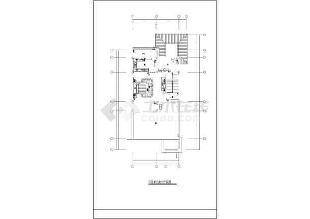 某地新式别墅电气设计图CAD图纸-图1