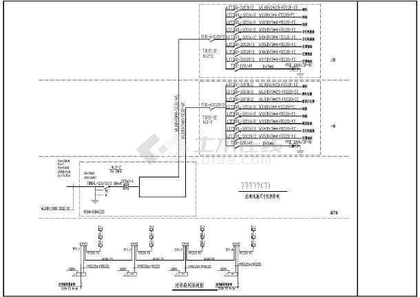 某地新式别墅电气设计图CAD图纸-图2