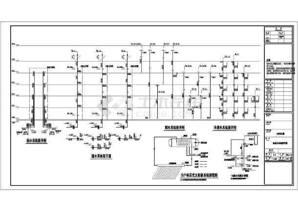安徽居民住宅楼给排水施工图-图3
