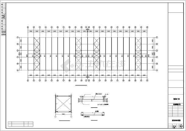 某地方公司钢筑厂房建筑结构CAD图-图3