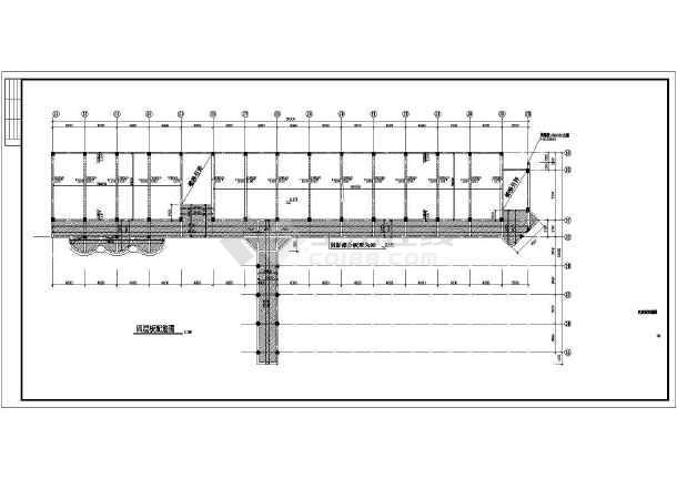某地区教学楼建筑结构施工CAD图纸-图1