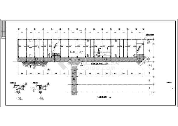 某地区教学楼建筑结构施工CAD图纸-图2