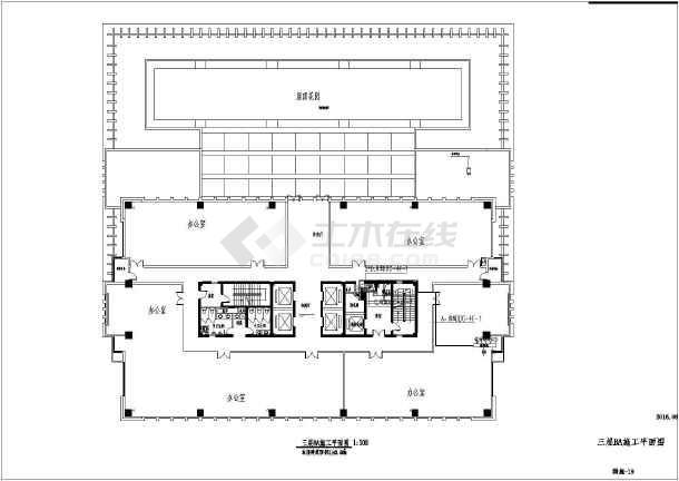 [江苏]办公大楼智能化工程电气全套图-图3
