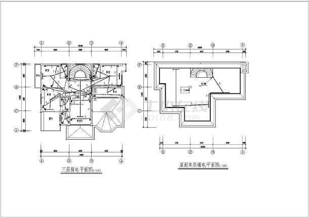 某地方新别墅电气施工图CAD图纸-图1