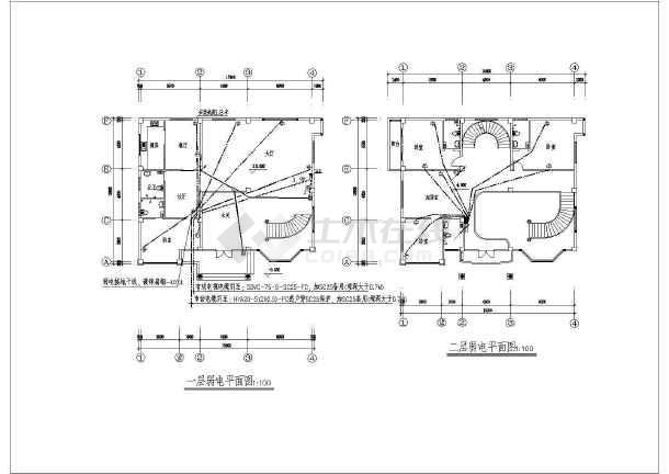 某地方新别墅电气施工图CAD图纸-图2