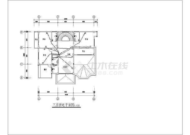 某地方新别墅电气施工图CAD图纸-图3