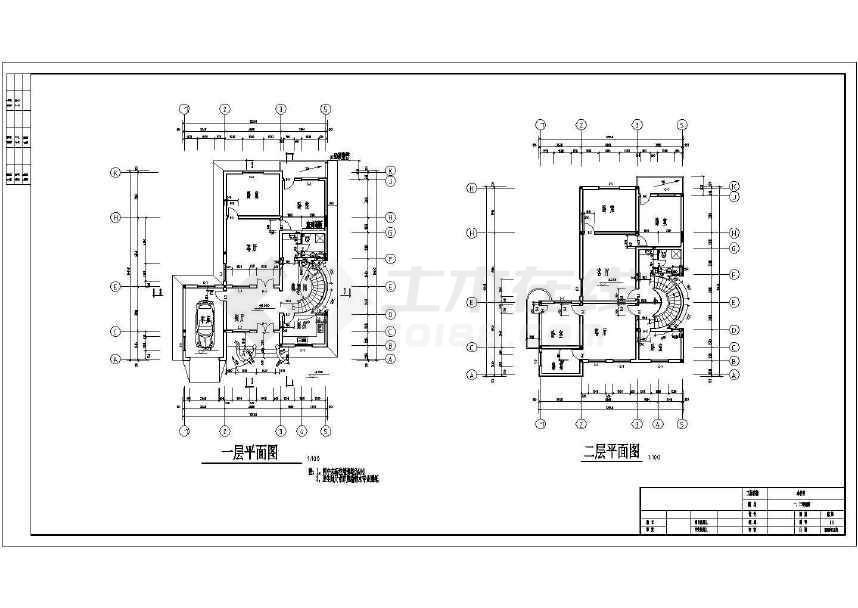 某地三层住宅楼建筑施工图-图3