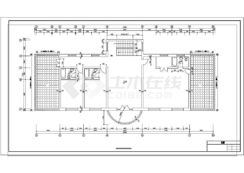 某地小型别墅建筑施工图CAD图纸(共6张)-图1