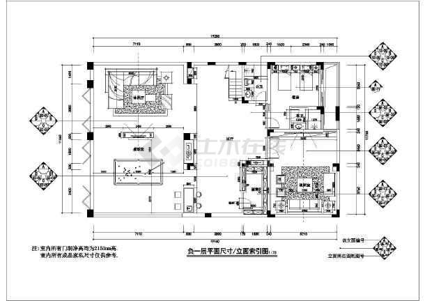 欧式精装别墅全套装修设计施工图-图1