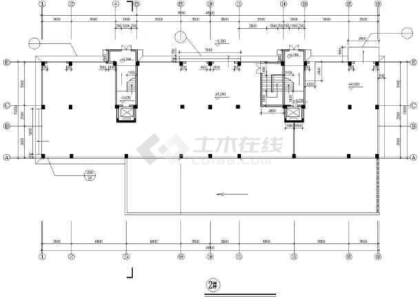 某市高层住宅建筑设计cad施工图-图2