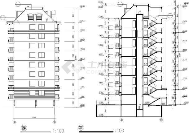 某市高层住宅建筑设计cad施工图-图3