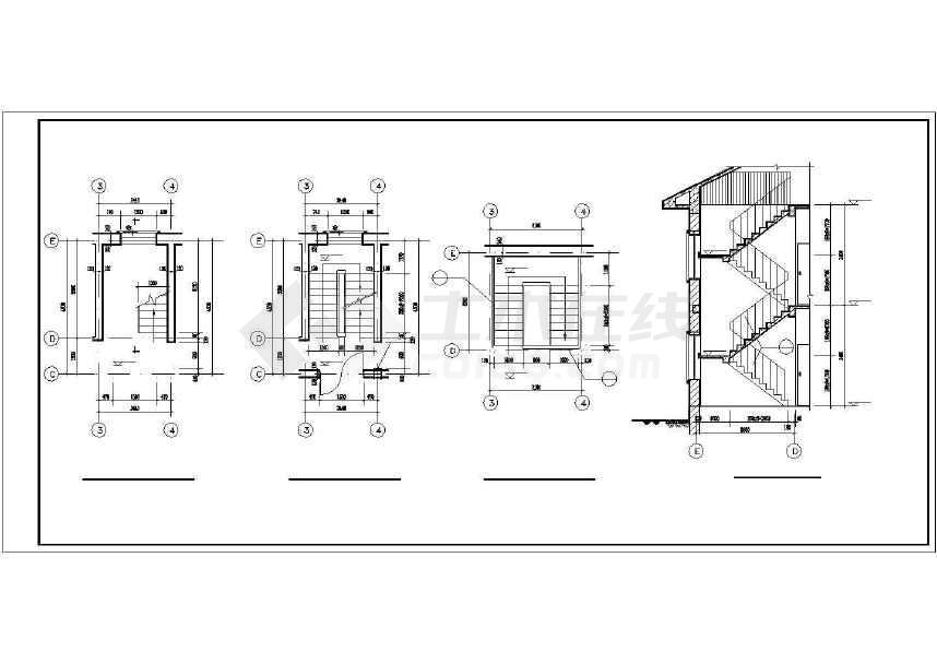 比较简单的一套别墅建筑设计图-图1