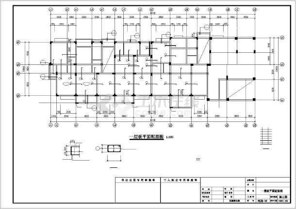 某7层异形柱框架住宅结构设计图-图1