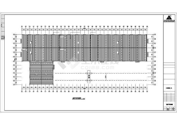 某公司轻钢厂房建筑结构设计CAD图-图1