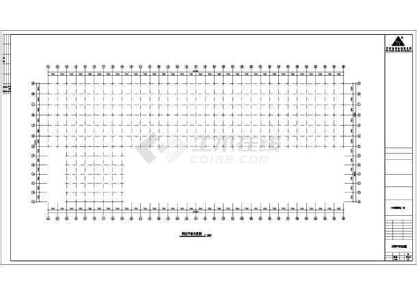 某公司轻钢厂房建筑结构设计CAD图-图2