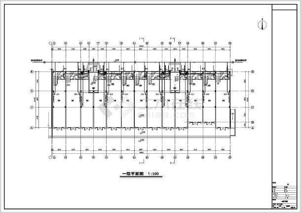 安徽高档小区商住楼给排水施工图-图1