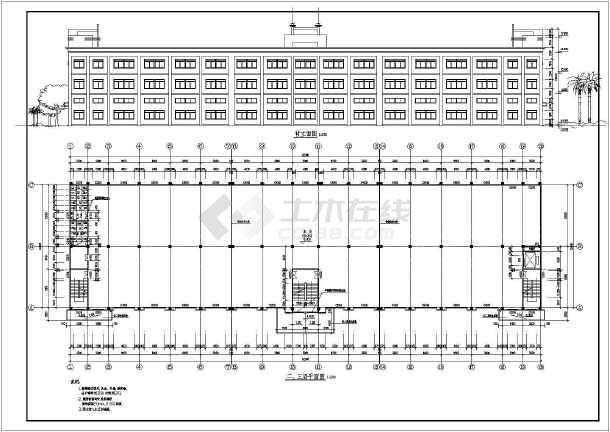 某厂房建筑施工图-图1