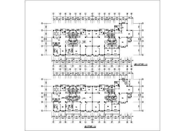 某联建房建筑施工设计CAD图-图2