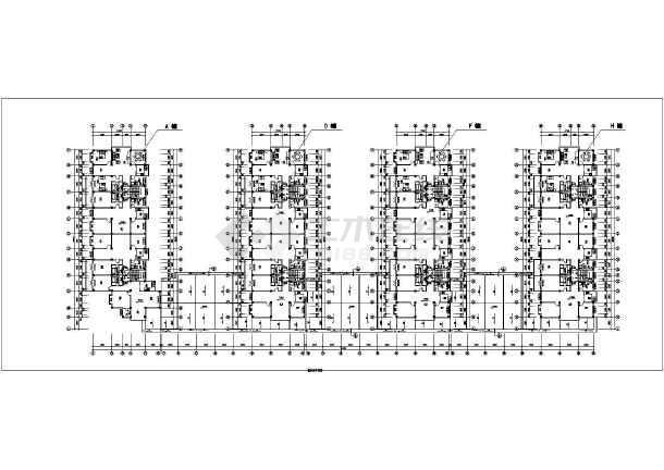 某联建房建筑施工设计CAD图-图3