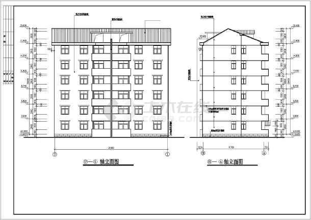 某市花园小区住宅楼建筑设计施工图-图2