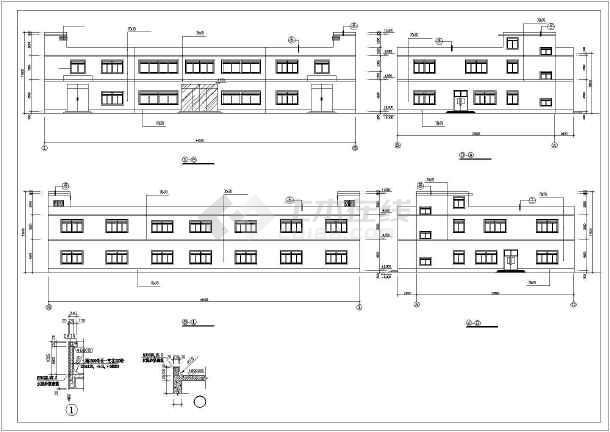 某高校宿舍楼建筑设计cad施工图-图1