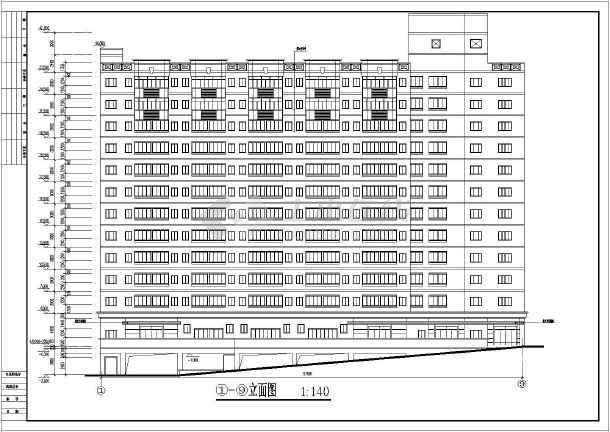 某地多层的学生宿舍建筑设计图-图1
