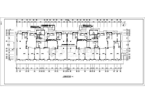 [安徽]商住楼电气施工图-图1