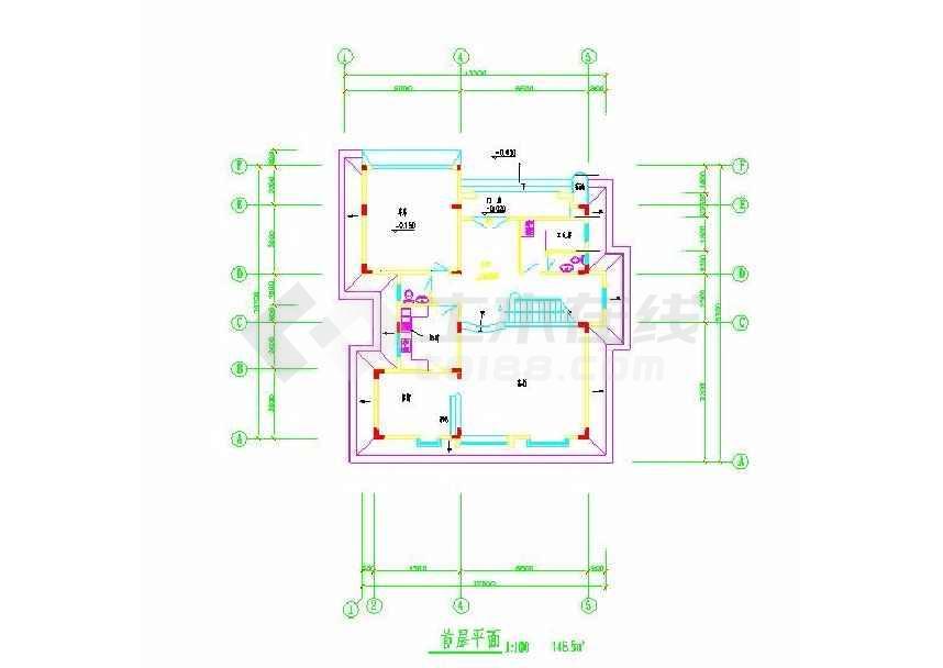 简单的一个别墅建筑方案图-图1