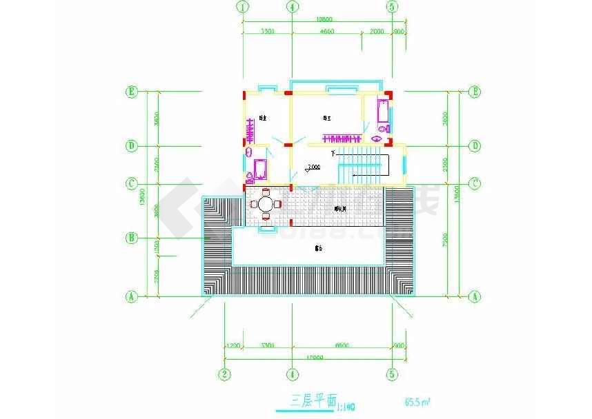 简单的一个别墅建筑方案图-图2