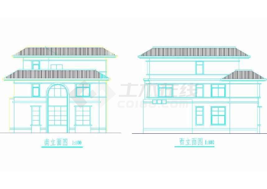 简单的一个别墅建筑方案图-图3