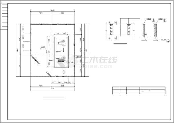 某加油站结构设计图-图3