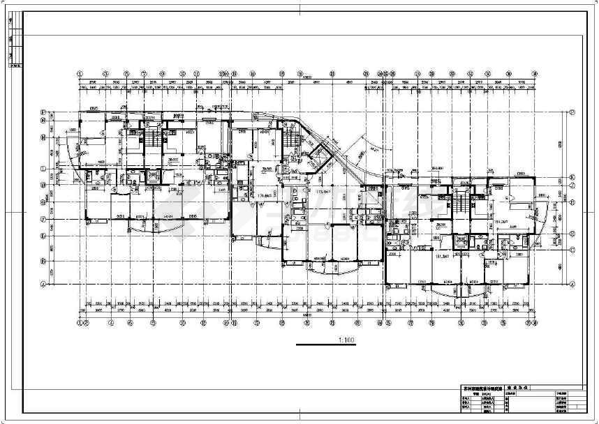 详细精美的高层住宅建筑设计图-图1