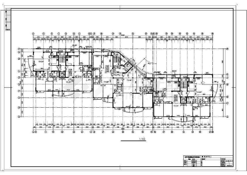 详细精美的高层住宅建筑设计图-图2
