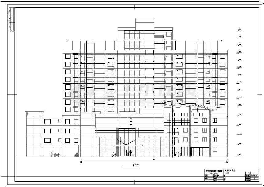 详细精美的高层住宅建筑设计图-图3