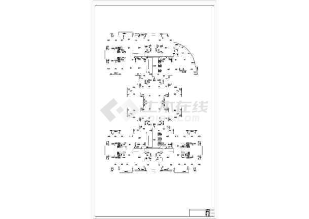 三十二层商住楼宇强电系统施工图纸-图1