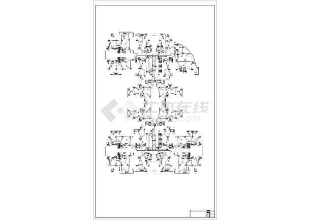 三十二层商住楼宇强电系统施工图纸-图2