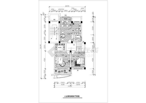 精细整套室内家装平面施工布置图-图3