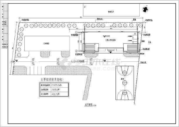 某地大堡小学全套建筑施工图(共15张)-图1