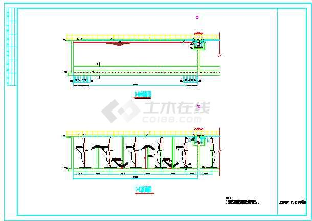 某县污水处理厂工艺设计施工图纸-图2
