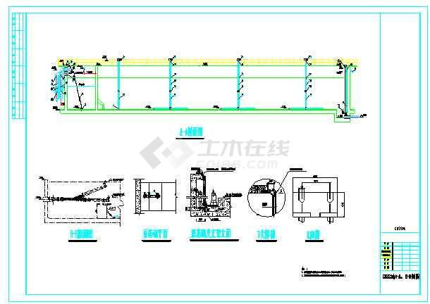 某县污水处理厂工艺设计施工图纸-图1