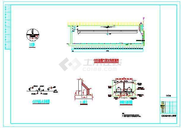 某县污水处理厂工艺设计施工图纸-图3