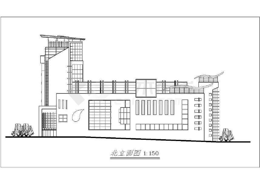风云大酒店建筑cad施工图(共12张)-图2