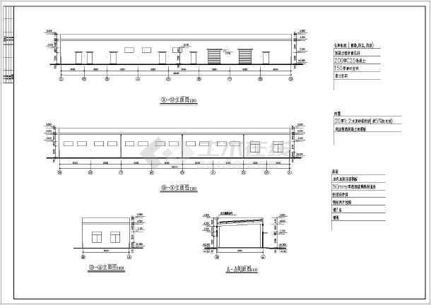 某综合仓库建筑施工图-图3