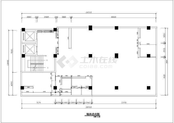 某大型火锅店全套装修设计施工图-图1