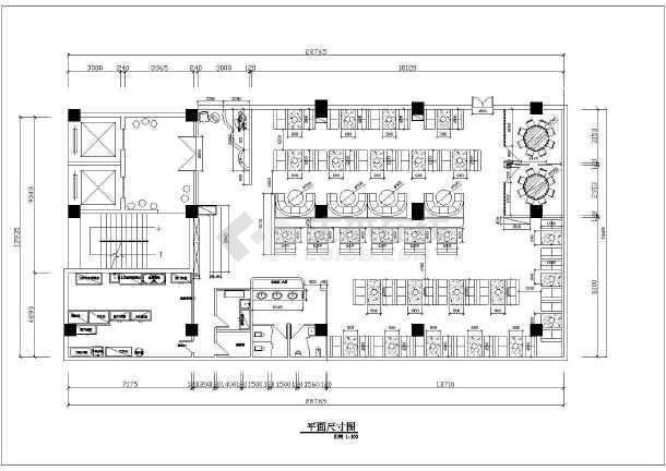 某大型火锅店全套装修设计施工图-图3